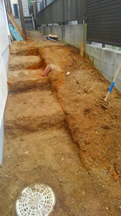 階段とスロープの土台