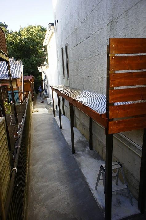 完成後の屋根付き収納